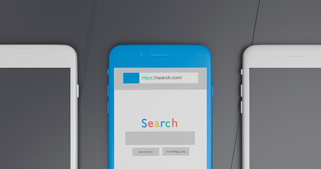 vyhledávání přes mobil