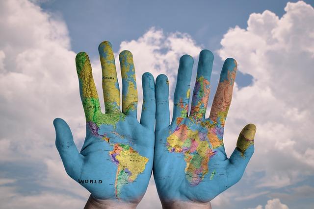 mapa na ruce